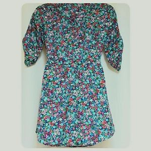 Mimi Chica Dresses - Mimi Chica Blue Floral Print Mini-Dress Size Small